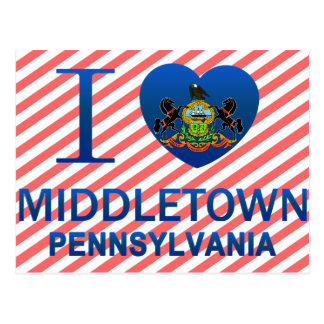 I Love Middletown, PA Postcard