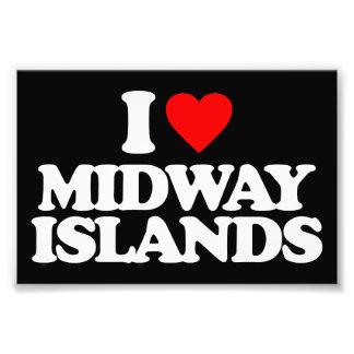 I LOVE MIDWAY ISLANDS PHOTO ART