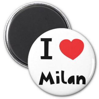 I love Milan 6 Cm Round Magnet