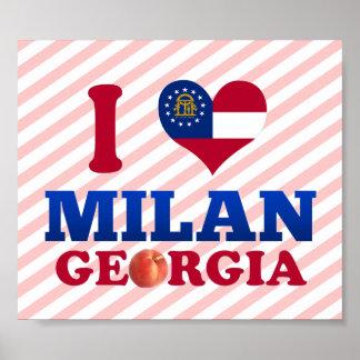I Love Milan Georgia Posters