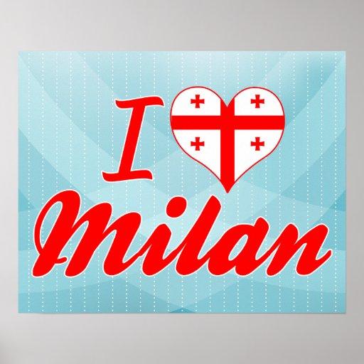 I Love Milan, Georgia Print
