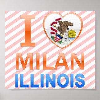 I Love Milan IL Poster