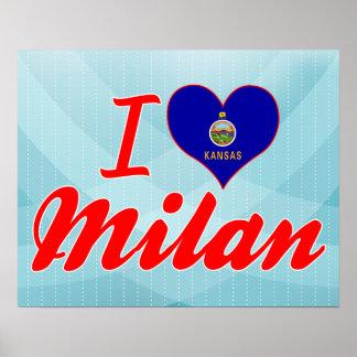 I Love Milan Kansas Posters