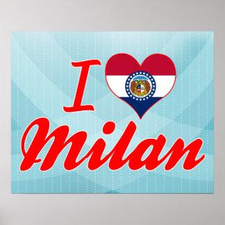 I Love Milan, Missouri Print