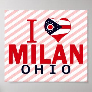 I love Milan Ohio Posters