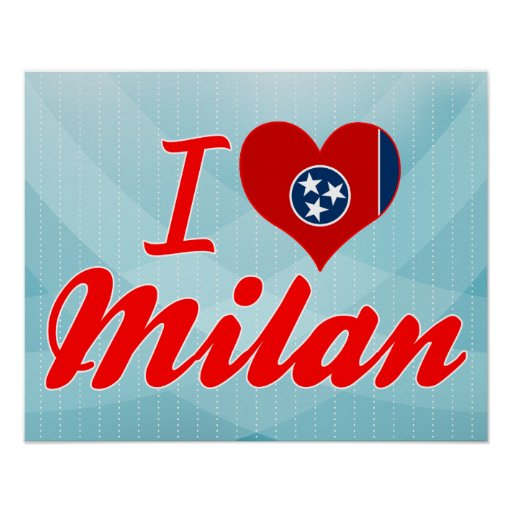 I Love Milan, Tennessee Posters