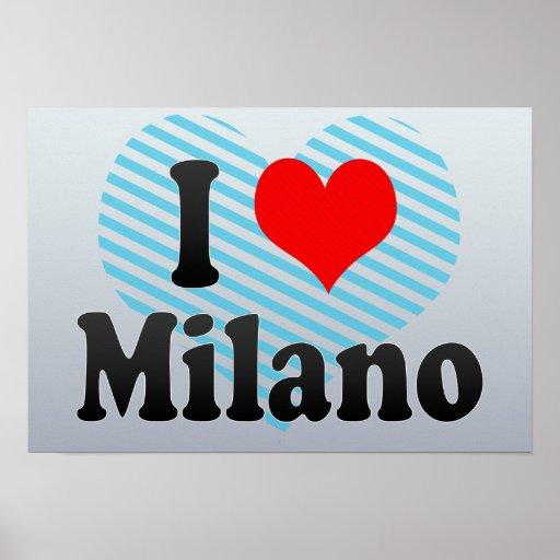 I Love Milano, Italy Posters