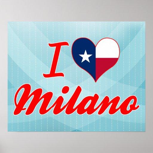 I Love Milano, Texas Posters