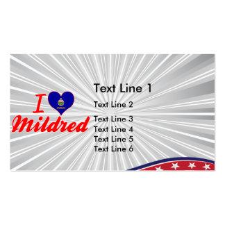 I Love Mildred, Kansas Business Card Template