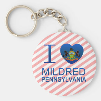 I Love Mildred, PA Keychains