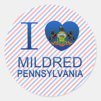 I Love Mildred, PA Sticker