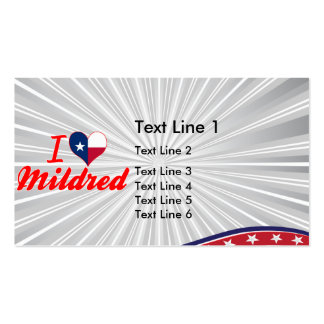 I Love Mildred, Texas Business Card Template