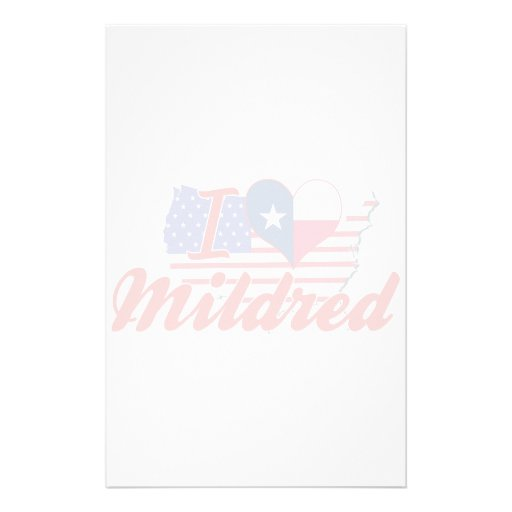 I Love Mildred, Texas Stationery