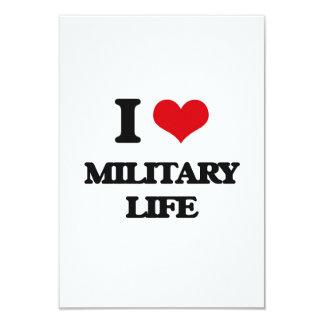 I Love Military Life Custom Invitation
