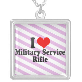 I love Military Service Rifle Necklaces