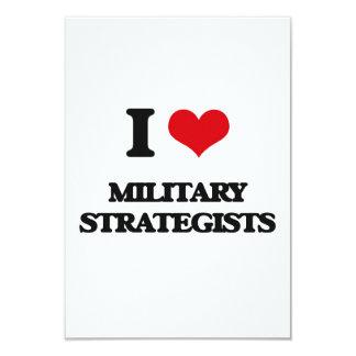 "I love Military Strategists 3.5"" X 5"" Invitation Card"