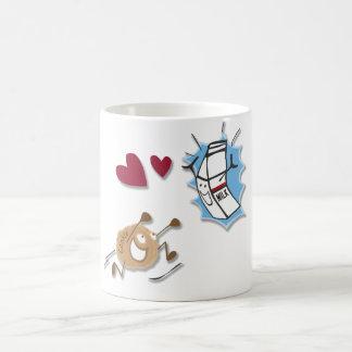I love milk and cookies! basic white mug