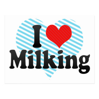 I Love Milking Post Card