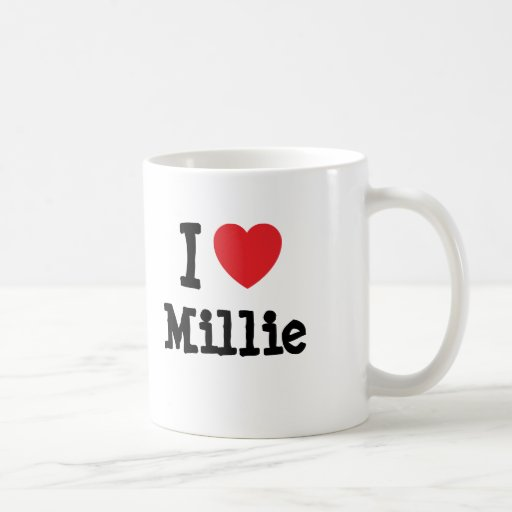 I love Millie heart T-Shirt Mugs