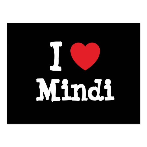 I love Mindi heart T-Shirt Postcards