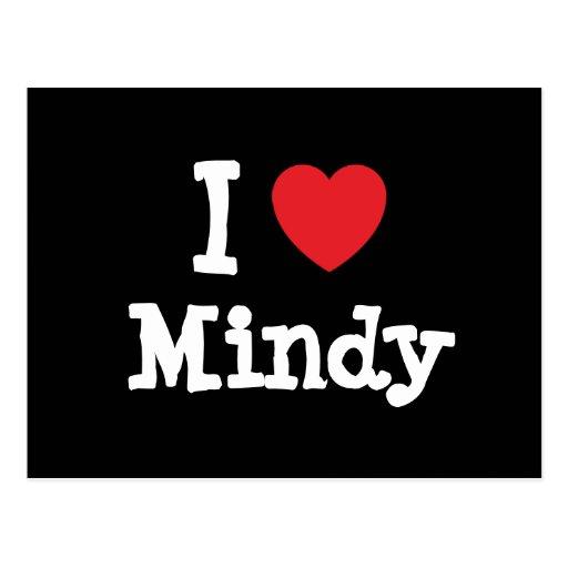I love Mindy heart T-Shirt Post Card