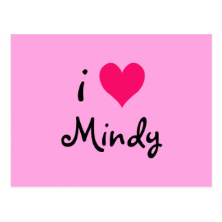 I Love Mindy Postcard