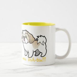 I Love, Mine shih-tzu Two-Tone Mug