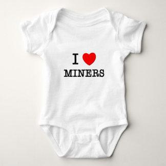 I Love Miners Baby Bodysuit