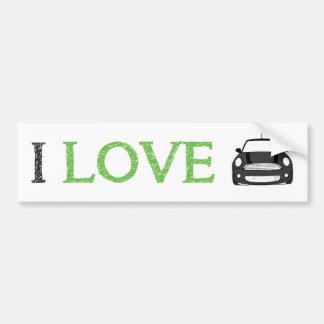 I Love Mini Bumper Sticker