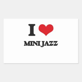 I Love MINI JAZZ Rectangular Sticker