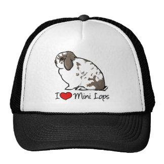 I Love Mini Lop Rabbits Cap