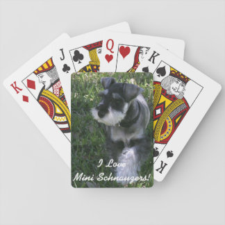 I Love Mini Schnauzers Deck of Cards