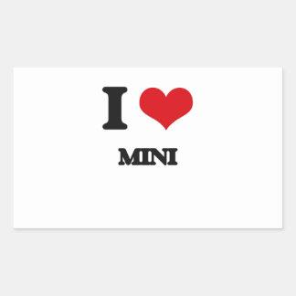 I Love MINI Rectangle Sticker