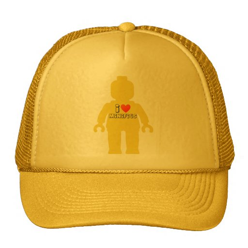 I Love Minifigs by Customize My Minifig Trucker Hat