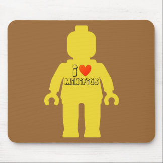 I Love Minifigs by Customize My Minifig Mouse Pad
