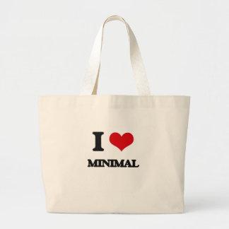 I Love Minimal Canvas Bag