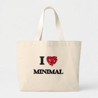 I Love Minimal Jumbo Tote Bag