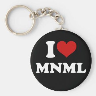I Love Minimal Key Chain