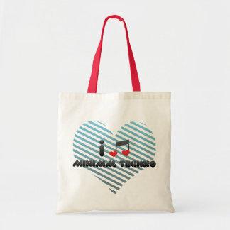 I Love Minimal Techno Bag