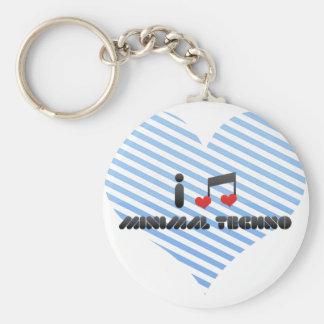 I Love Minimal Techno Key Chain