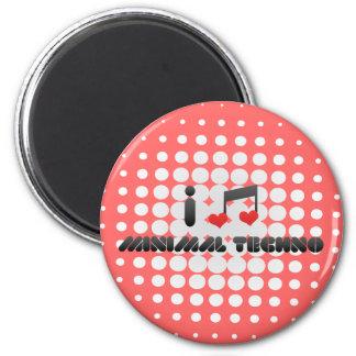 I Love Minimal Techno Fridge Magnet