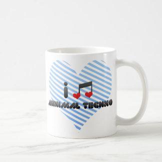 I Love Minimal Techno Coffee Mugs