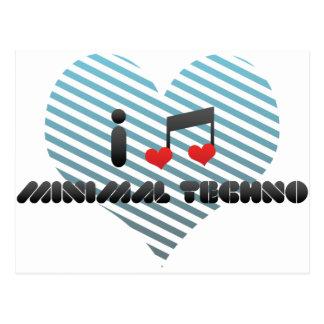 I Love Minimal Techno Post Cards