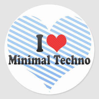 I Love Minimal Techno Sticker