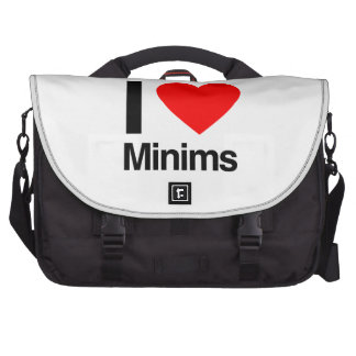 i love minims laptop commuter bag