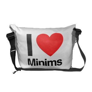 i love minims messenger bags