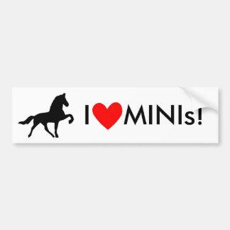 I Love MINIs! Bumper Sticker