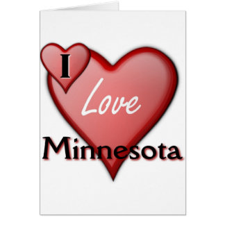 I Love Minnesota Card