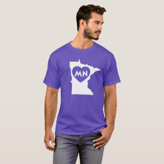 I Love Minnesota State Men's Basic Dark T-Shirt