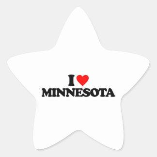 I LOVE MINNESOTA STAR STICKERS